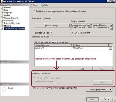 Sql Server Resume Log Shipping by Steps To Add Log Shipping Monitor Into An Existing Sql Server