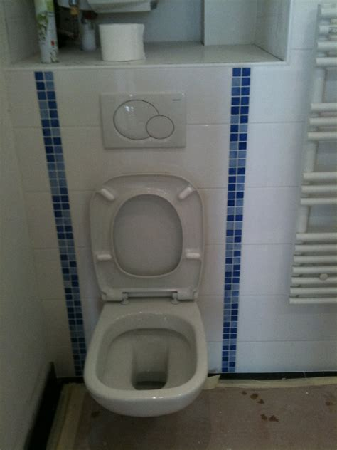 comment poser un toilette suspendu installation wc suspendu