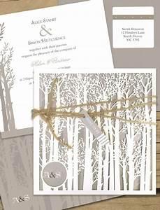 endless forest laser cut wedding invitation online With laser cut wedding invitations online australia