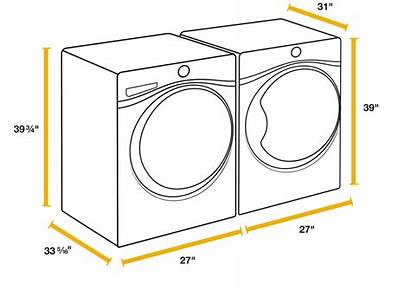 Washer Dryer Sizes Side Laundry Whirlpool Load