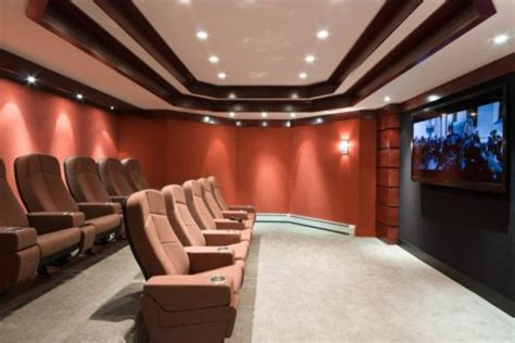 custom designed media room entrance view dh audio