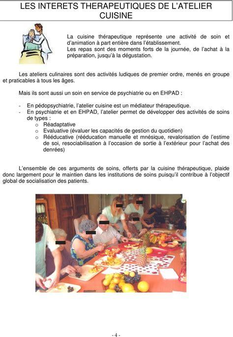 atelier cuisine en creche guide des ateliers de cuisine thérapeutique pdf
