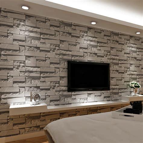 Aliexpresscom  Buy 3d Brick Wall Stone Wallpaper Modern