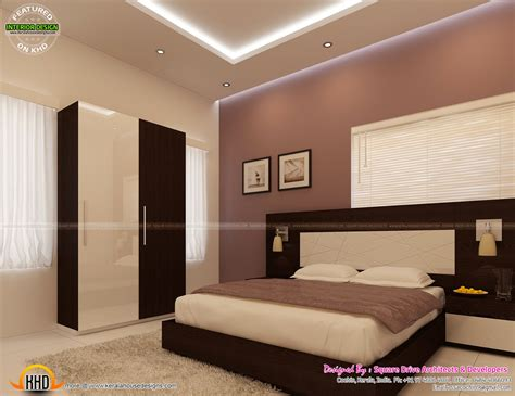 Home Interior Design For Bedroom by Bedroom Interior Decoration Kerala Home Design And Floor