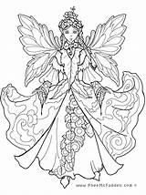 Coloring Fairy Woodland Princess Anime Popular sketch template