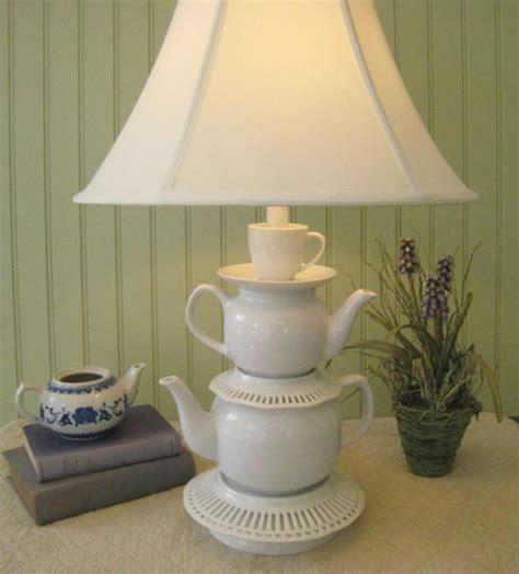 recycling tea cups  tea pots  creative home