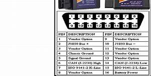 Elm327 Obd Ii Connector And Pinout