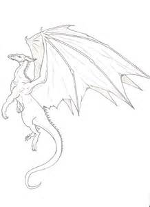 Easy Drawings to Draw Flying Dragons