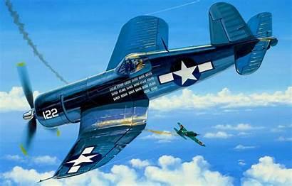 Corsair Vought F4u Ww2 War Aviation Airplane