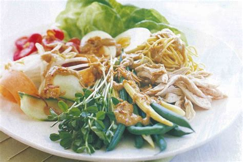gado gado salad  chicken recipes deliciouscomau