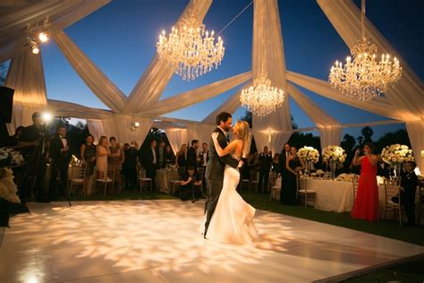 poolside ceremony amazing open air tented reception