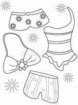 Coloring Swimsuits Bagno Bain Costumi Pagina Colorant Maillots Colorano Che Colorare Zwempakken Kleuren Costume Maillot Dessin Useful Illustrazione Coloriage Disegni sketch template