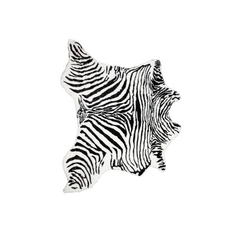 Faux Zebra Cowhide Rug by Faux Zebra Black White 4 25 Ft X 5 Ft Cowhide Rug