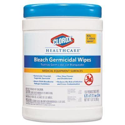 "Clorox Healthcare® Bleach Germicidal Wipes (6"" x 5"" 