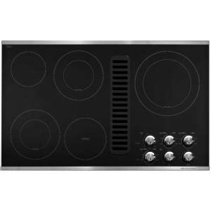 electric cooktop with vent kitchenaid 36 in downdraft vent ceramic glass electric