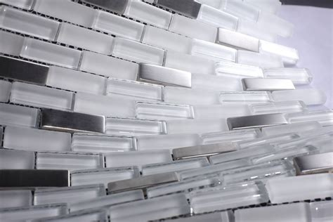 white glass tiles ice cube white glass tile stainless steel tile