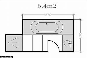Plan Salle De Bain 4m2 : 18 plans de salle de bains de moins de 11 m2 ~ Nature-et-papiers.com Idées de Décoration