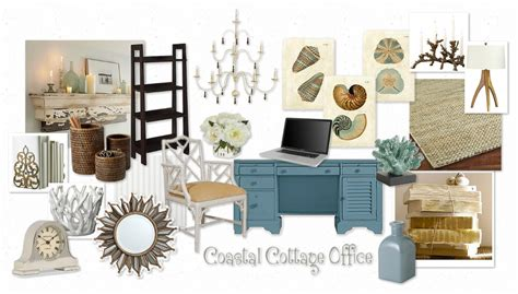 Cottage Board by Setting The Mood For A Coastal Cottage Office Makely