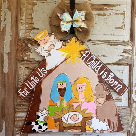Decorating Ideas For Nativity by Door Hanger Nativity Door Hanger