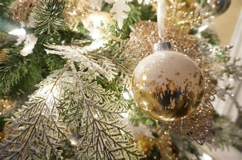 diy gold leaf ornaments