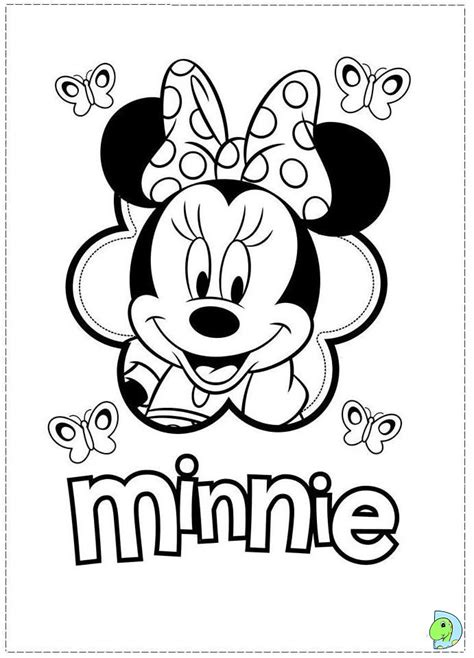 disney minnie mouse coloring pages   print
