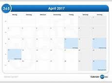 Kalender April 2017
