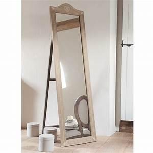 Grand Miroir Maison Du Monde : miroir psych en bois de paulownia h 170 cm camille maisons du monde ~ Teatrodelosmanantiales.com Idées de Décoration