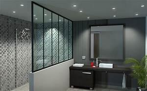 Cloison en verre sur mesure cloison vitree bord a bord ou for Salle de bain verriere
