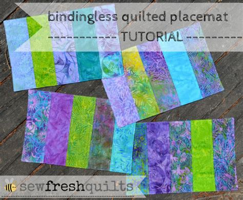 quilted placemats patterns sew fresh quilts bindingless quilted placemats a tutorial
