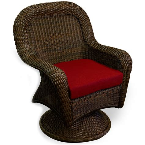 tortuga outdoor lexington wicker dining swivel chair