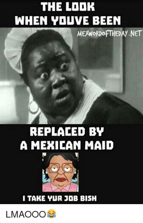 Mexican Maid Meme - the lddk when youve been mexwordofthedaynet replaced by a mexican maid i take yur job bish