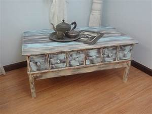 rustic coffee table blue With blue rustic coffee table