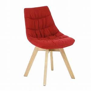 Chaise Scandinave Rouge : chaise rouge avec pi tement en bois design scandinave joy consoles tables chaises chaises ~ Preciouscoupons.com Idées de Décoration