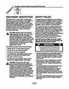 Generac Svp5000 Generator Owners Manual