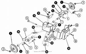 Snapper 1650  80424  16 Hp Hydro Drive Garden Tractor  Mf  Parts Diagram For Implement  Mule  Drive