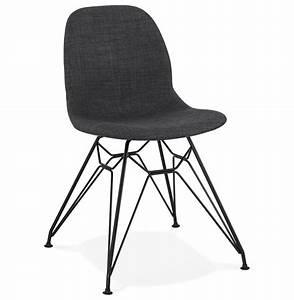 Chaise Pied Metal Noir : chaise design declik grise fonc e avec pieds en m tal noir ~ Teatrodelosmanantiales.com Idées de Décoration