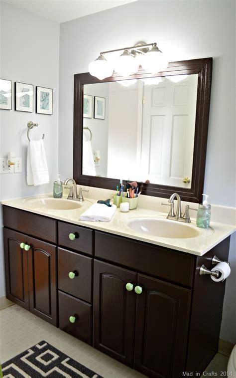 bathroom storage cabinet ideas diy bathroom makeover reveal mad in crafts