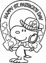 Coloring Patrick Saint Snoopy Patricks Sheets Shamrock Printable Beachy Adults Crafts Sheet Happiness Homemade Leprechaun Rainbow Inspirational Worksheets Elegant K5worksheets sketch template