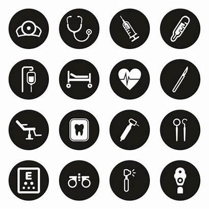 Medical Icons Dental Vision Vector Clip Illustrations