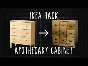 Ikea Tarva Kommode : ikea hack tarva apothecary cabinet diy youtube ~ Orissabook.com Haus und Dekorationen