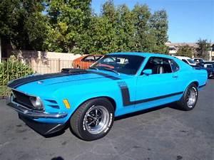 1970 Ford Mustang Boss 302 5.0L marti report grabber blue classic car 4 speed