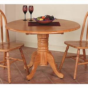 Sunset, Trading, -, Round, Drop, Leaf, Dining, Table, In, Light, Oak, Finish