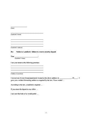 return deposit to tenant fill online printable