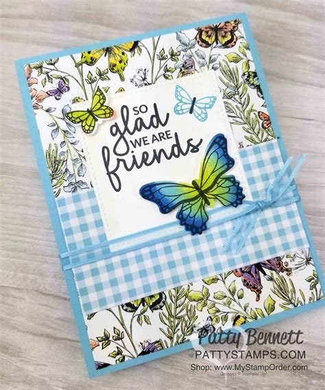 Stampin' Up Butterfly Gala Butterfly Duet botanical
