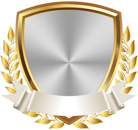 Badge Png by Gold White Badge With Banner Png Clip Image Gallery