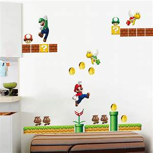 Classical game super mario wall stickers for kids room