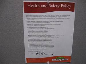 Hse Health And Safety Policy Template Pizza Pizza University Training Library