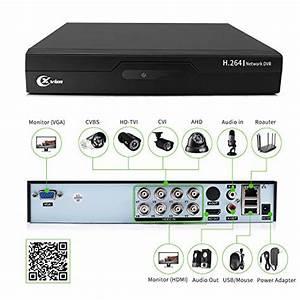 Xvim 8ch 1080p Security Camera System Home Security