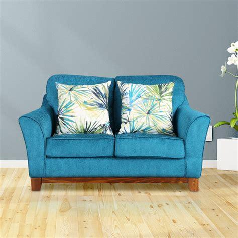 buy rotterdam fabric  seater sofa  turquoise colour