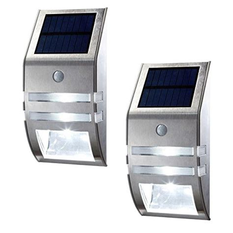 oxyled 174 2 pack solar powered automatic motion sensor